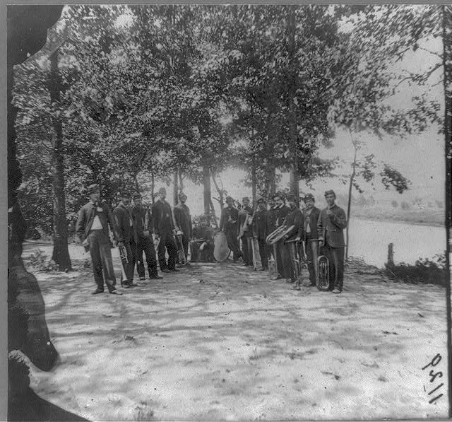 Band of 1st Connecticut heavy artillery on James River, Va.