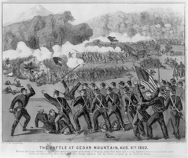 The battle at Cedar Mountain, Aug. 9th 1862