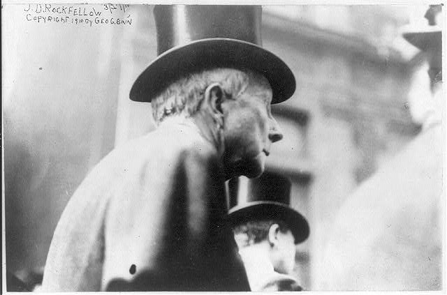 [John Davison Rockefeller, 1839-1937, head-and-shoulders portrait, profile]