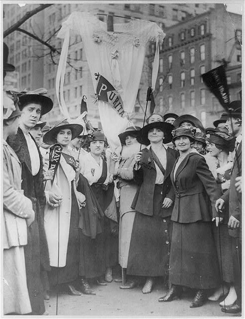[Garment workers parading on May Day, New York, New York]