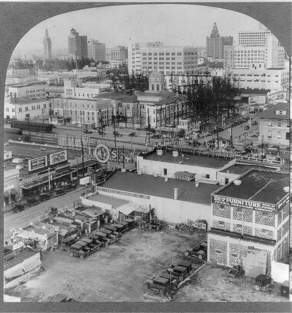 [Miami, Florida, views: bird's-eye view of downtown]