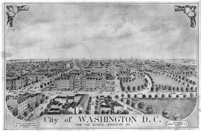 City of Washington, D.C. from the National Observatory, 1876