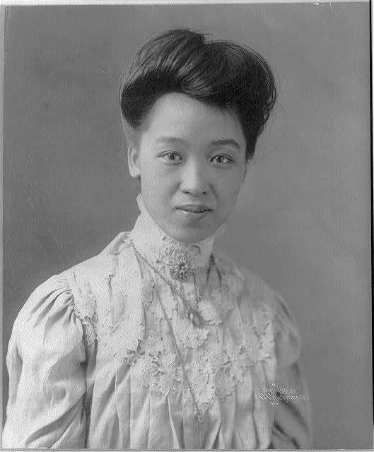 [Kang Tung Pih, daughter of Kang Yu Wei, head-and-shoulders portrait]