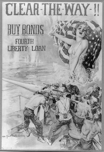 Clear-the-way!! Buy bonds--Fourth liberty loan