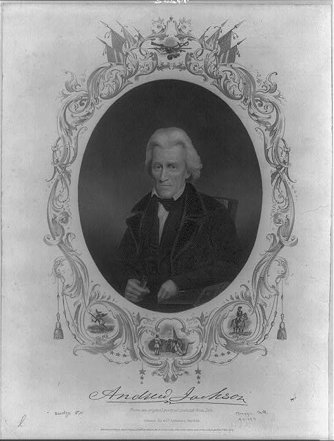 [Andrew Jackson, Pres. U.S., half, seated, facing slightly left]