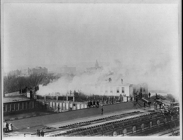 [Washington, D.C., Fire Department activities - fighting Treasury fire]