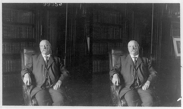 [Grover Cleveland, three-quarters length, seated, facing slightly left]