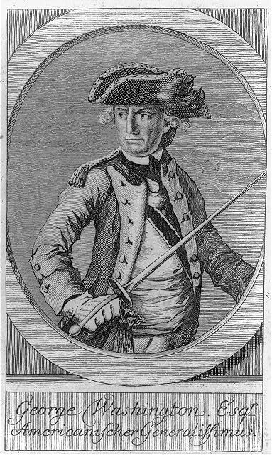 George Washington, Esq'r. - Americanischer generalissimus
