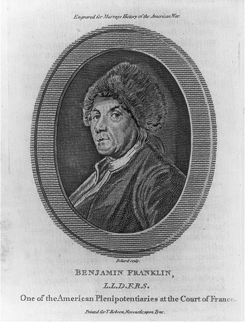 Benjamin Franklin L.L.D. F.R.S. - one of the American plenipotentiaries at the Court of France