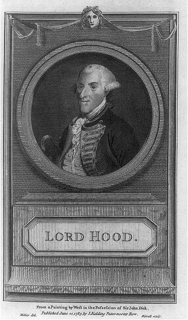 Lord Hood - from a painting by West in the possession of Sir John Dick