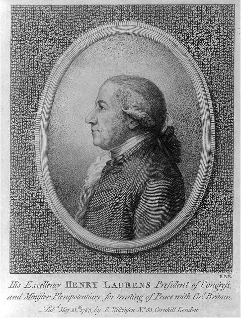 His excellency Henry Laurens, president of congress & minister plenipotentiary for treating of peace with Grt. Britain