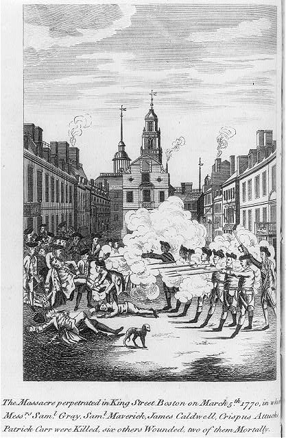 The massacre perpetrated in King Street Boston on March 5th 1770, ...