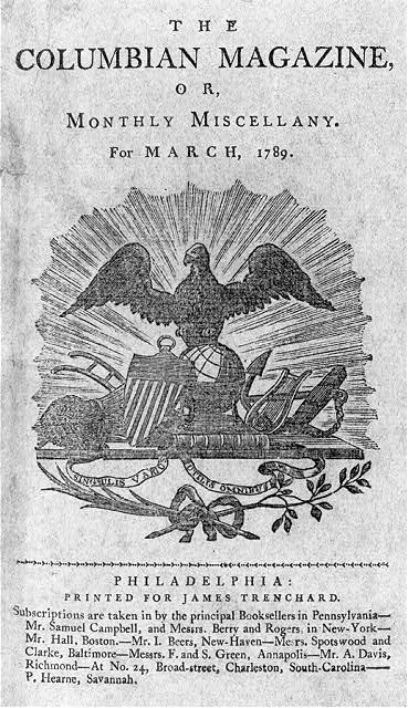 [Ornament for title page of The Columbian Magazine for the year 1789]