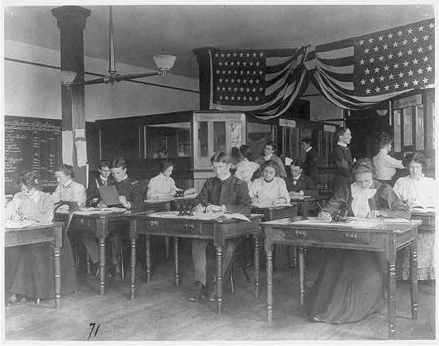 [Washington, D.C. public schools, Business High School - classroom scene]