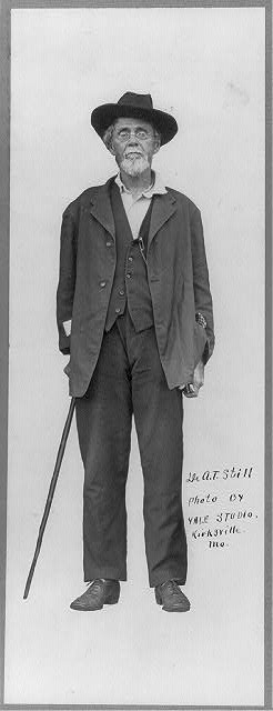[Andrew T. Still, full-length portrait, standing with cane, facing front]
