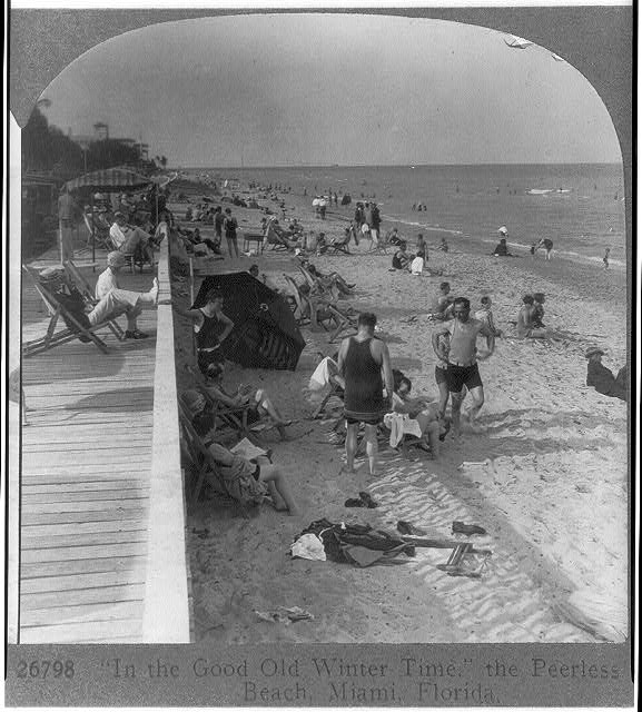 """In the good old winter time,"" the Peerless Beach, Miami, Florida"