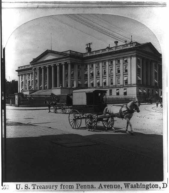 [U.S. Treasury from Pennsylvania Avenue, Washington, D.C.]