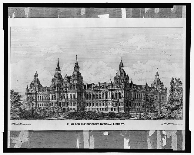 "[Library of Congress (""National Library""), Judiciary Square site, Washington, D.C. Perspective]"