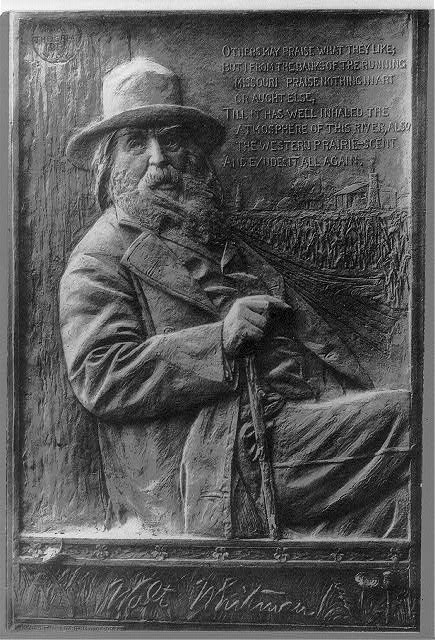 [Walt Whitman, 1819-1892, half-length portrait, seated, facing right]