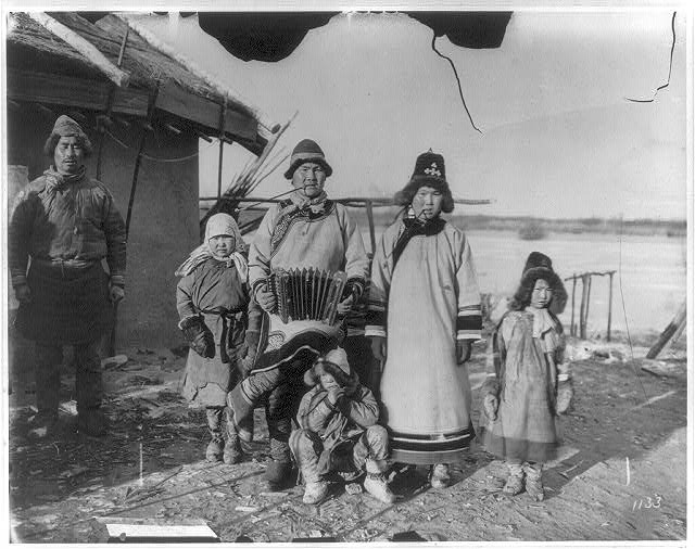 Goldi family group, north of Khabarovsk
