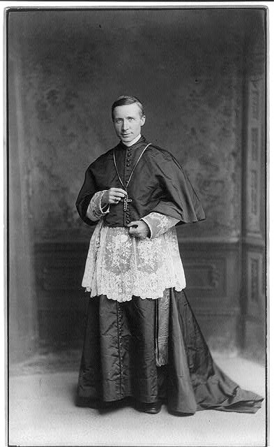 [Cardinal James Gibbons, full-length portrait, standing, facing left]