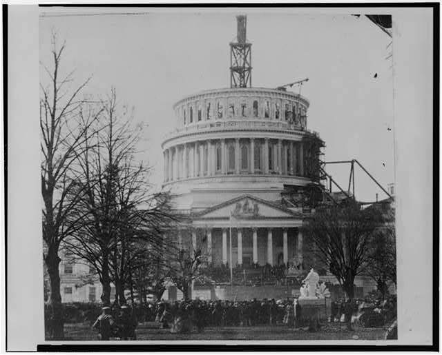 [Inauguration of President Lincoln at U.S. Capitol, March 4, 1861]