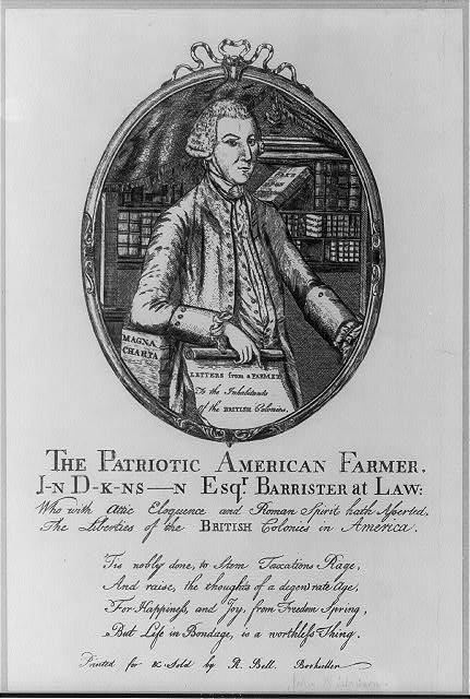 The patriotic American farmer J-n D-k-ns-n Esqr. Barrister at law