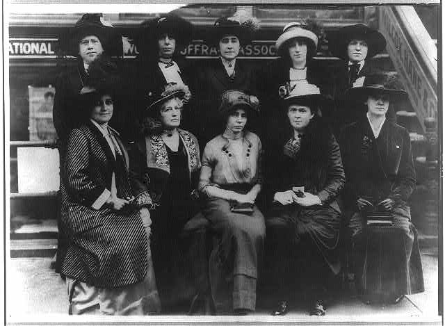 Group of 10 suffragettes