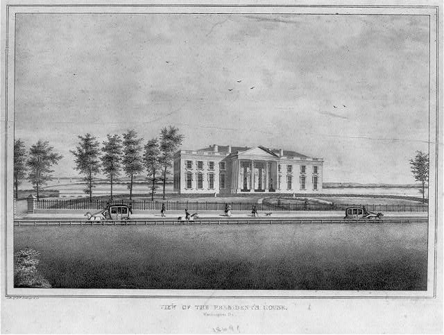 View of the president's house. Washington, D.C.