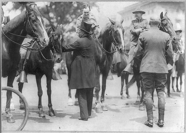 Pres. Roosevelt greeting Rough Riders