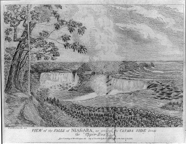 "View of the Falls of Niagara, as seen on the Canada side from the ""Upper Bank"""