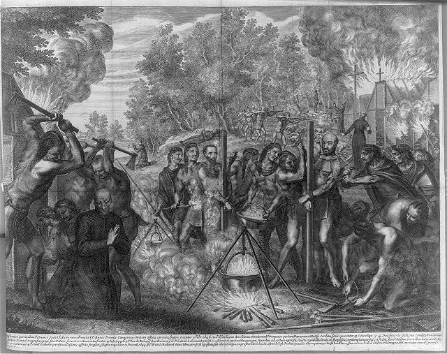 [Murder of the missionaries by the Indians]