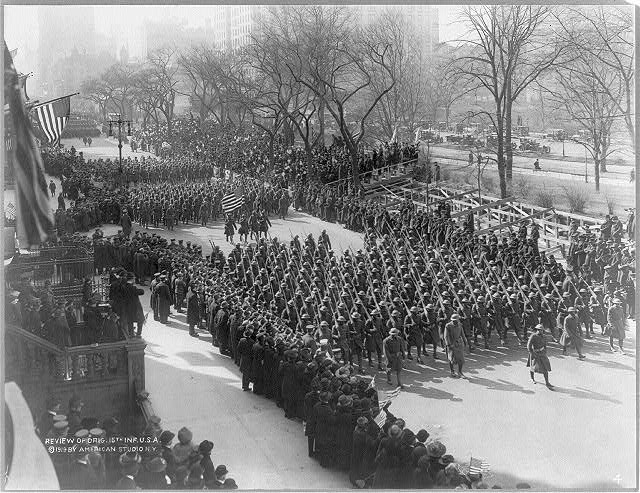 [Review of Original 15th Infantry, U.S. Army, New York City]