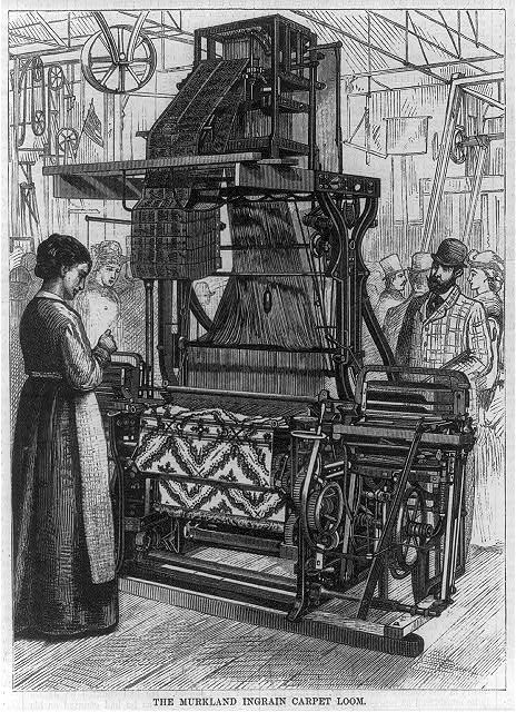 [The Murkland Ingrain Carpet Loom - (displayed at the centennial, 1876?), Philadelphia]