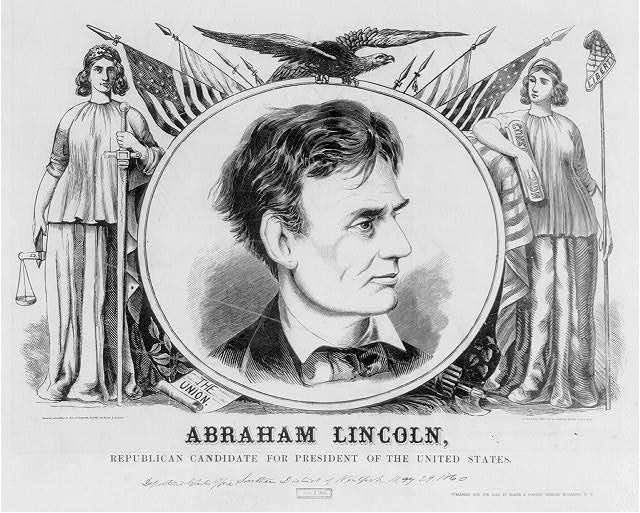 Abraham Lincoln, Republican candidate for president of the United States