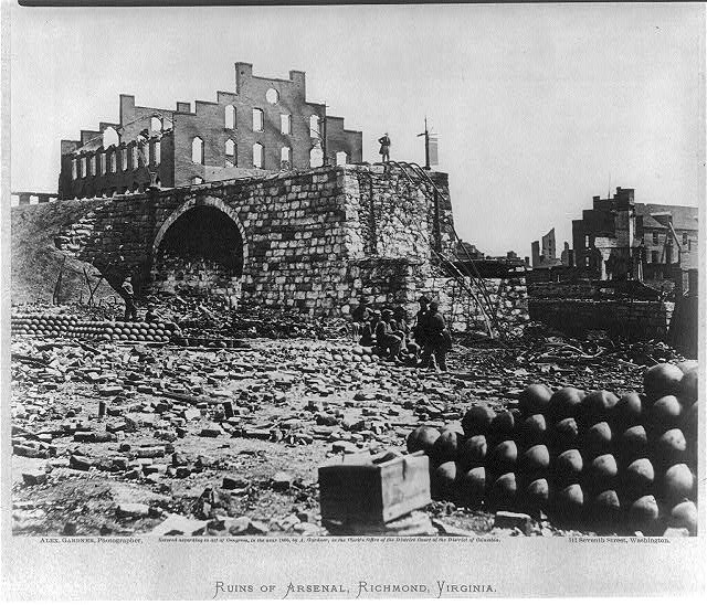 Ruins of arsenal, Richmond, Virginia