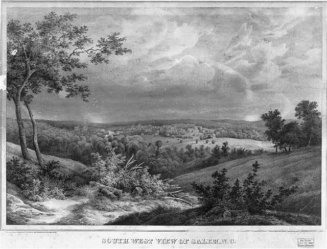 South west view of Salem N.C.