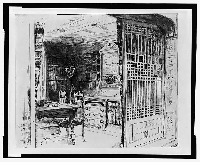 Alcove of the Society Library, New York