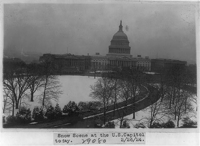 U.S. Capitol - east front and grounds in snow