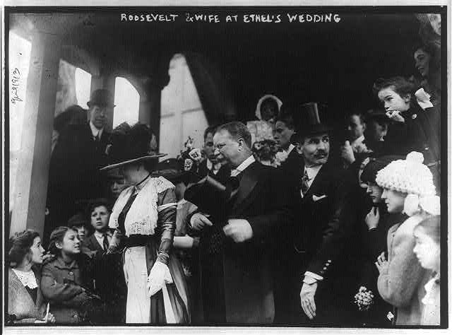 Roosevelt & wife at Ethel's wedding