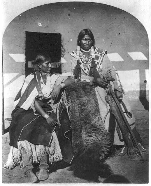 Jicarilla Apache Brave and Squaw, lately wedded.