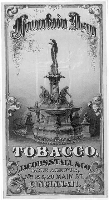 Mountain Dew tobacco - Jacobs, Stall & Co., Sole Agents, Nos. 18 & 20 Main St., Cincinnati