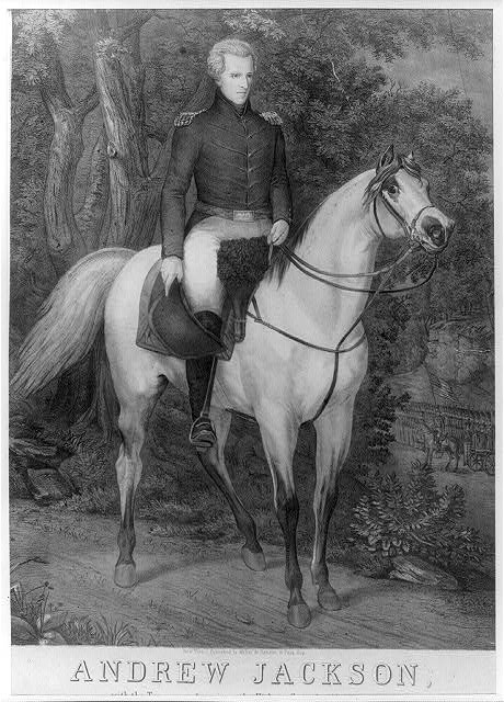 Andrew Jackson, with the Tennessee forces, on the Hickory Grounds (Ala.) A.D. 1814