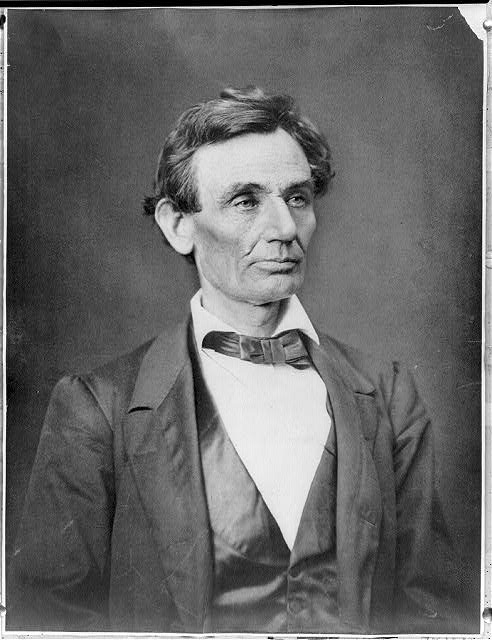 [Abraham Lincoln, presidential candidate, head-and-shoulders portrait, facing slightly right]