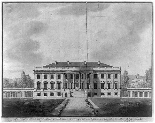 "[The White House (""President's House"") Washington, D.C. South front elevation]"