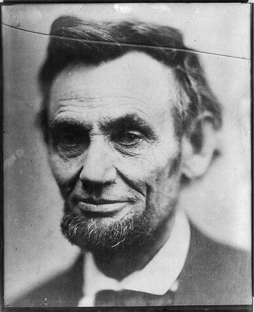 "[Abraham Lincoln, head-and-shoulders portrait, traditionally called ""last photograph of Lincoln from life""]"