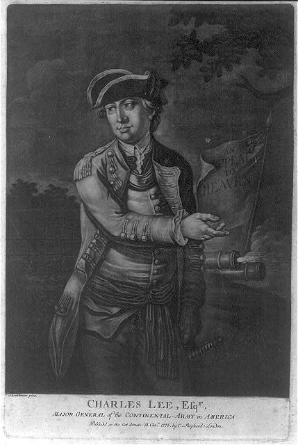 Charles Lee, Esq'r. - major general of the Continental Army in America
