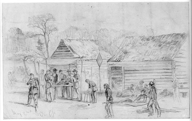 Field hospital (second corps) on the battlefield of Chancellorsville
