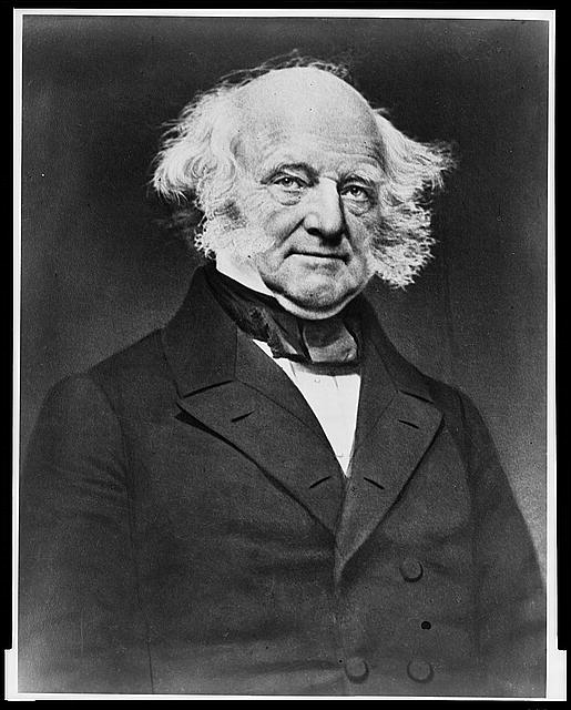 [Former President Martin Van Buren, half-length portrait, facing right]