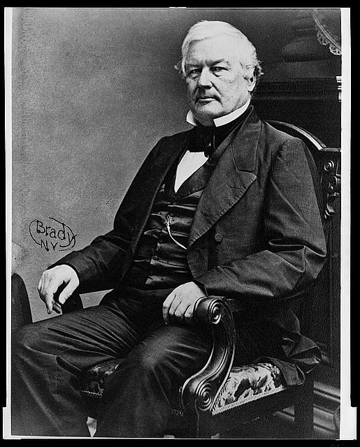 [Millard Fillmore, three-quarter length portrait, seated, facing left]